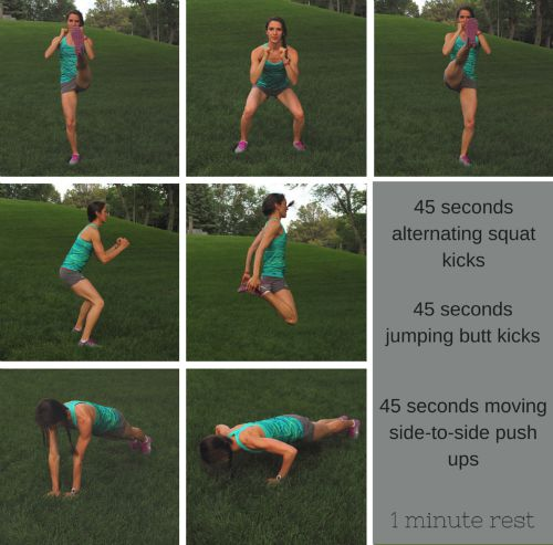 Tone and tighten while building your endurance with this 20 min HIIT workout. Interval #3