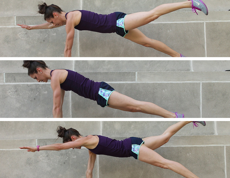 Opposite Arm Leg Raises - Plank Love Workout