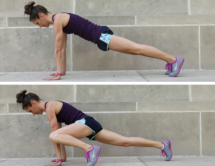 Spider Lunges - Plank Love Workout