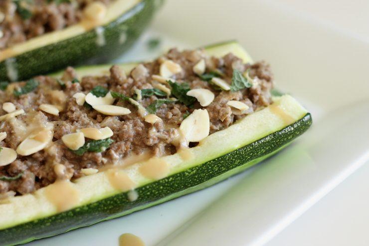 Paleo, Lebanese Beef Zucchini Boats