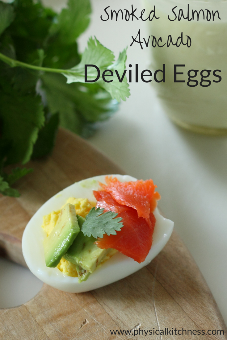 Low-carb, guilt-free smoked salmon avocado deviled eggs