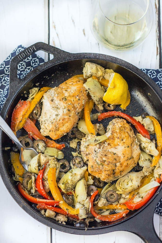 30-minute paleo and whole30 compliant meal - Greek chicken skillet