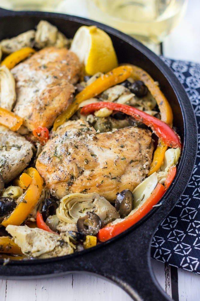 Easy Paleo Greek Chicken Skillet