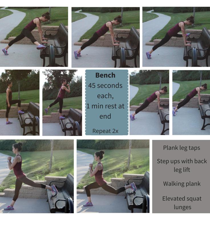 Fun & Fresh Park Workout: Set #4 - Bench