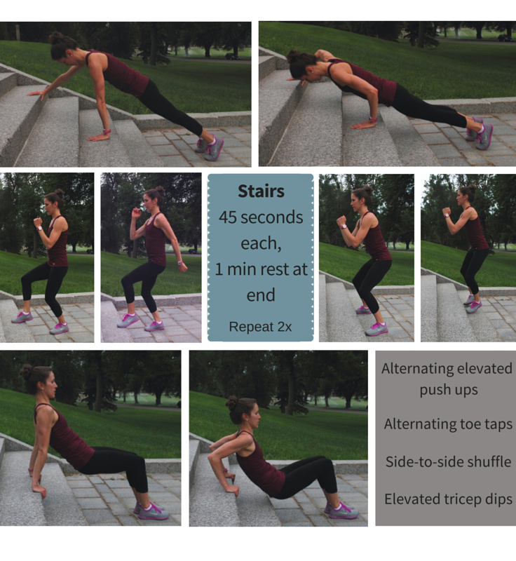 Fun & Fresh Park Workout: Set #1 - Stairs