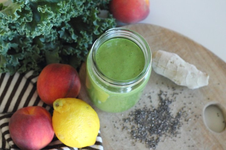 Ginger-Peach-and-Kale-Power-Smoothie