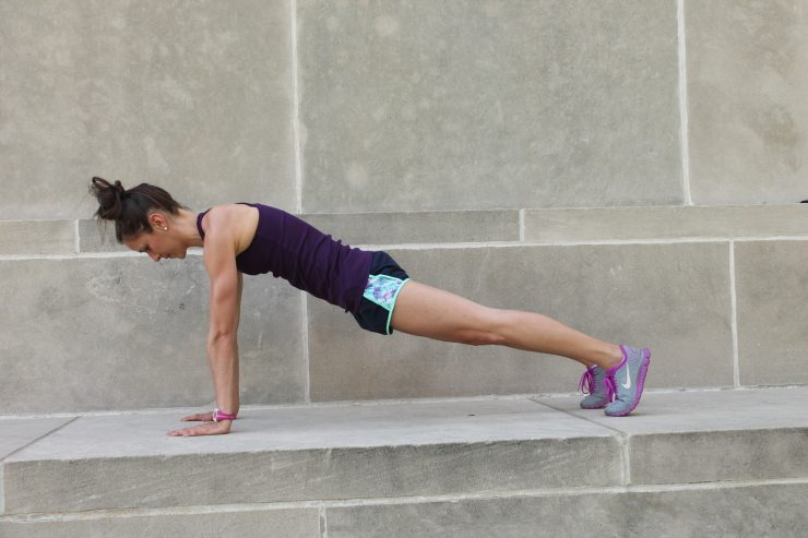 Straight Arm Plank - final burnout in 10-minute plank workout