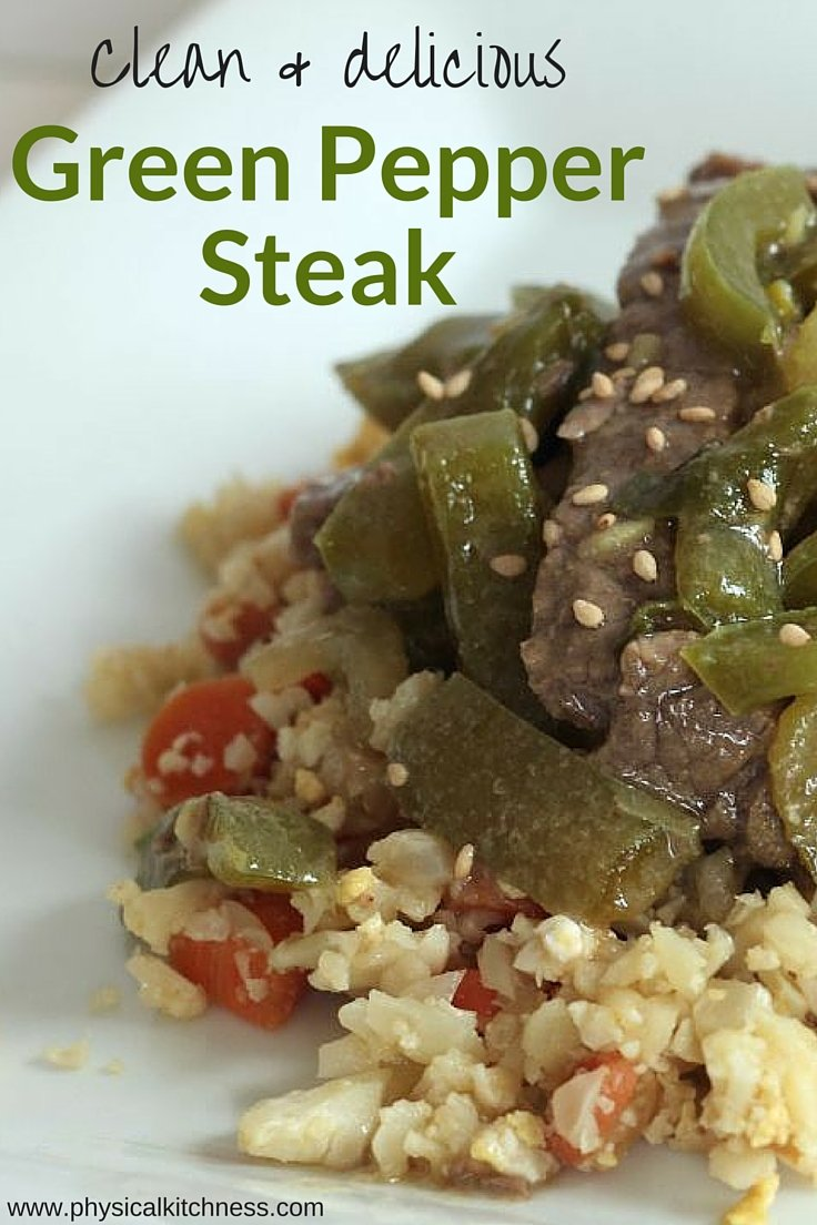 This easy green pepper steak dish is healthy, and Whole30 compliant. Bursting with flavor and makes great leftovers!
