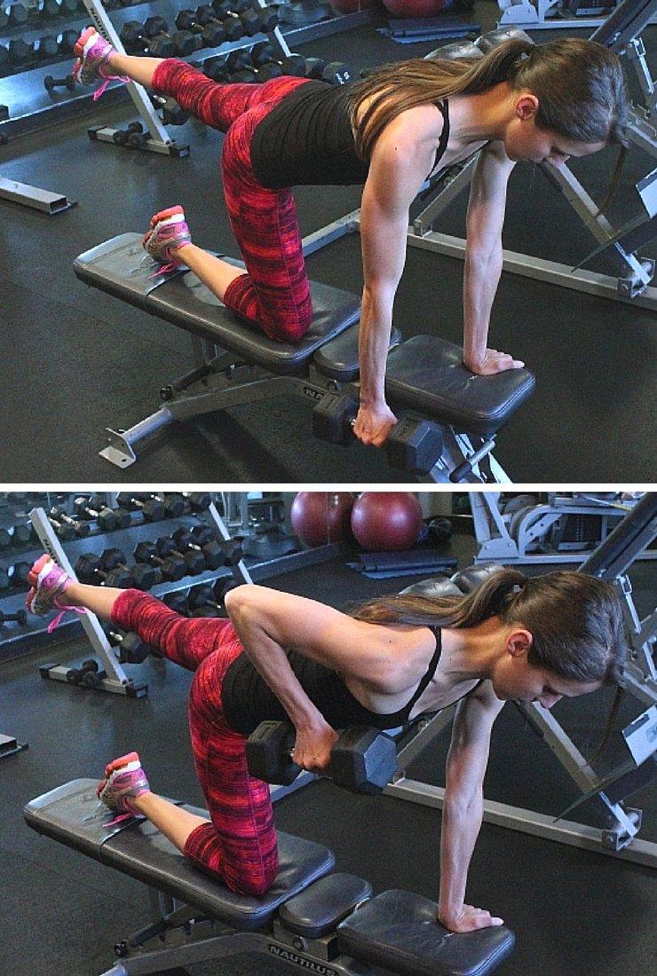 Balancing Rows - Circuit #1 of Body Busting Bench Workout
