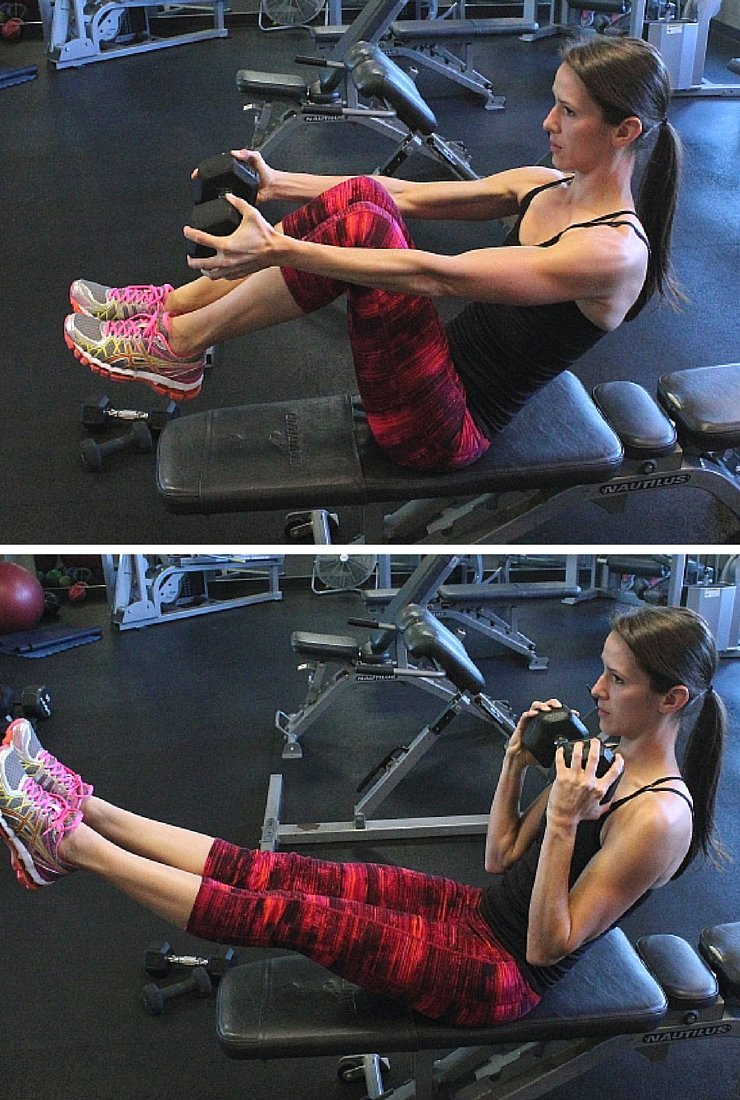 Bicep Ab Rows - Circuit #4 of Body Busting Bench Workout