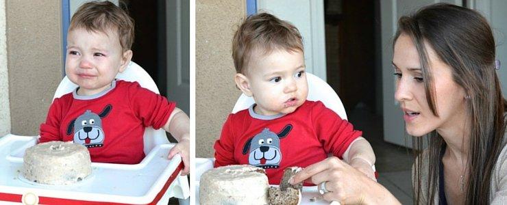 A healthy first birthday smash cake