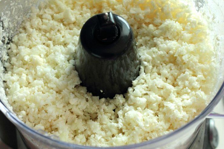 Pulse cauliflower for healthy cauliflower fried rice