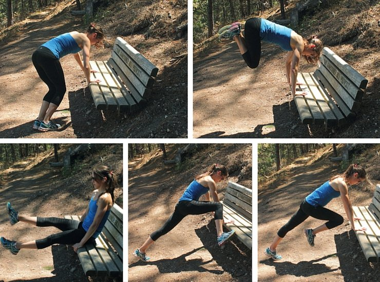 Maximizing your hiking workout with bench circuits