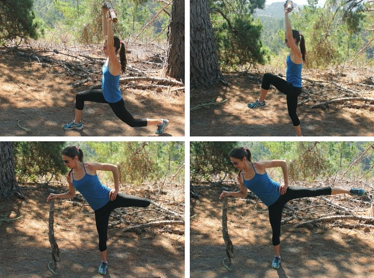 Maximizing your hiking workout with lunges and butt kickers