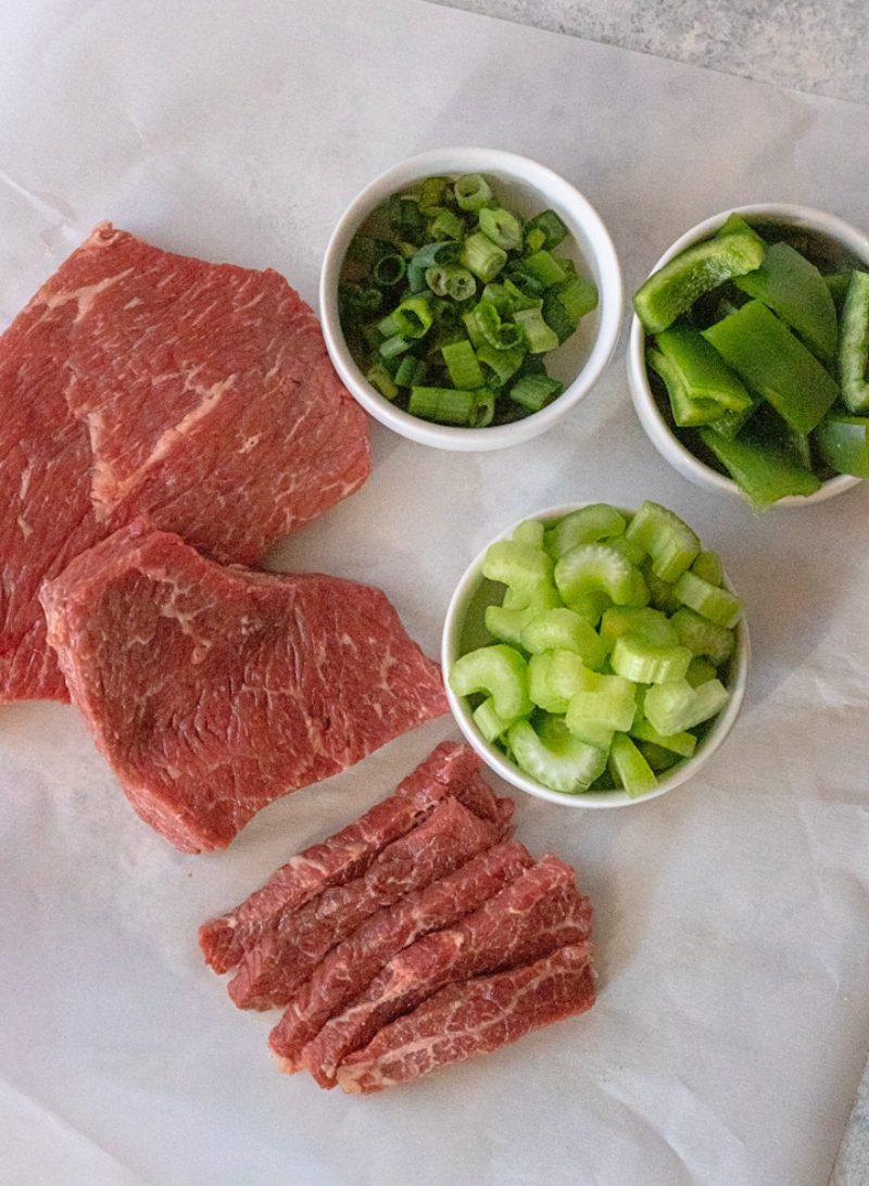 Paleo green pepper steak ingredients
