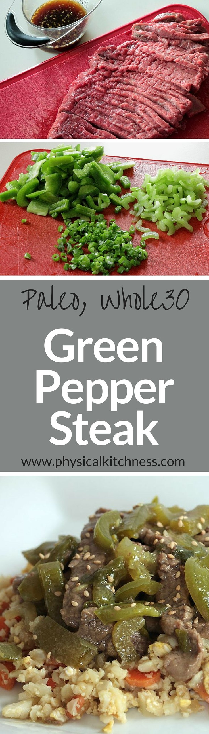 This squeaky clean green pepper steak is paleo, whole30 compliant, and delicious.