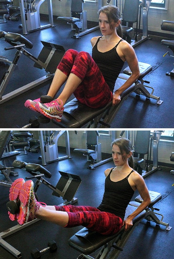 Weighted Leg Extensions - Circuit #2 of Body Busting Bench Workout