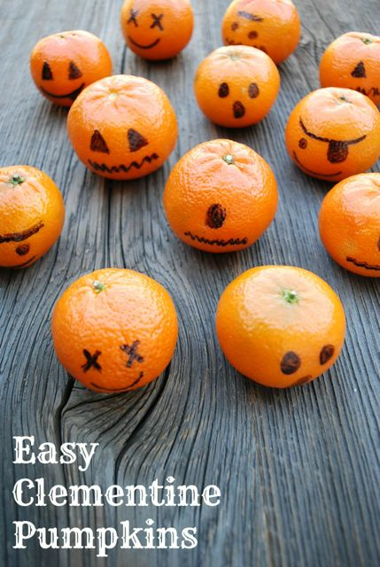 Healthy Trick or Treating Teal Pumpkin Ideas - Clementine Pumpkins