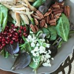 Autumn Cobb Salad with an easy, 3-ingredient pomegranate vinaigrette