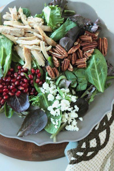 Autumn Cobb Salad with Pomegranate Vinaigrette