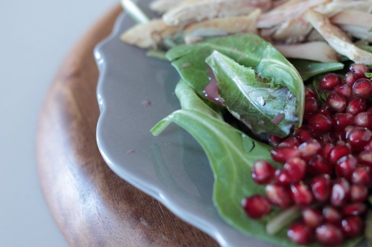 Pomegranate rules this Autumn Cobb Salad. Only 3 ingredients!