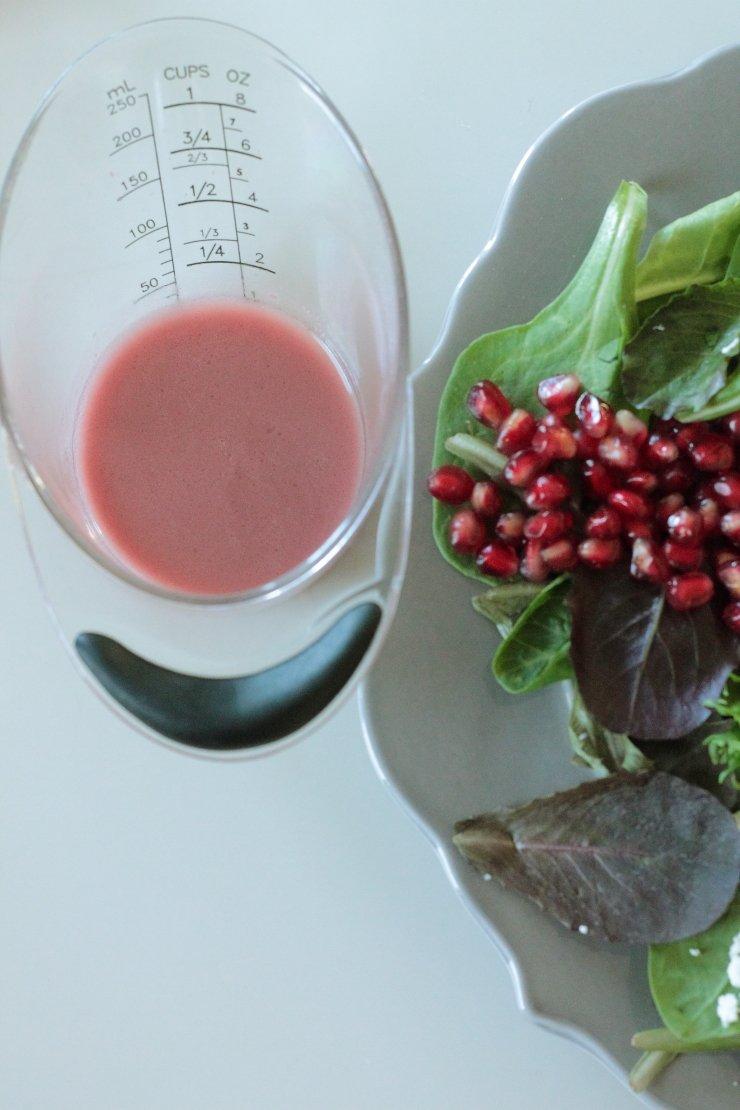 If you love pomegranates, you will love the Autumn Cobb Salad with Pomegranate Vinaigrette!