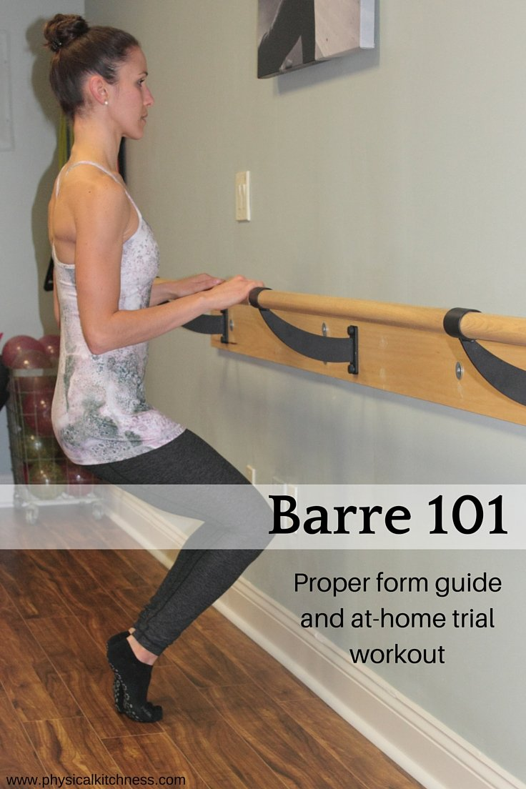 A form guide for barre beginners and an at-home beginners workout
