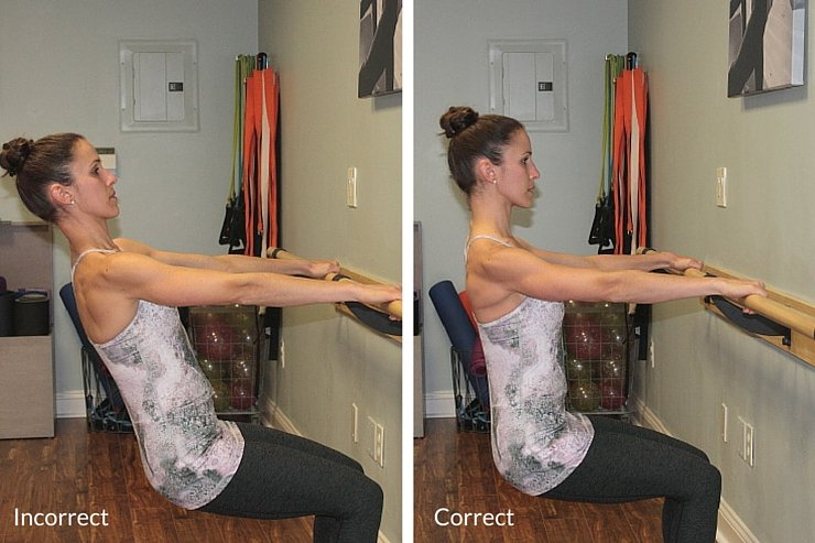 Beginner Barre Tutorial - correct form (chair sit)