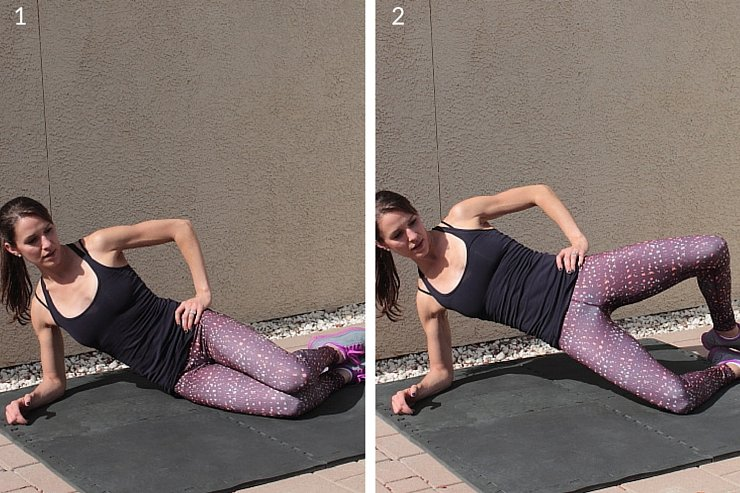 This lifted clamshell targets your tush & inner thighs. Check out more of this barre-inspired plyometric workout