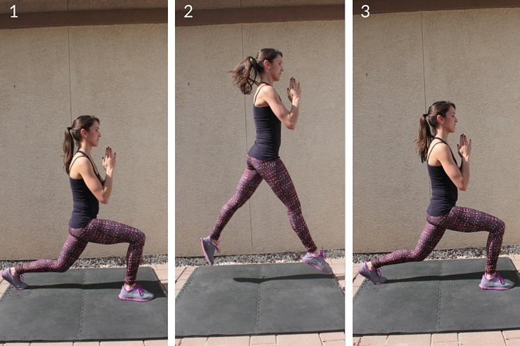 20 minute workout that combines plyometrics with barre-inspired moves
