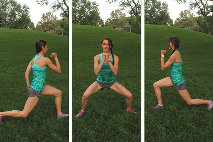 10-Minute Tabata Hopping Lunge to Squat
