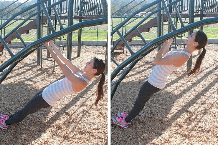 Playground Workout - Inverted Pull Ups