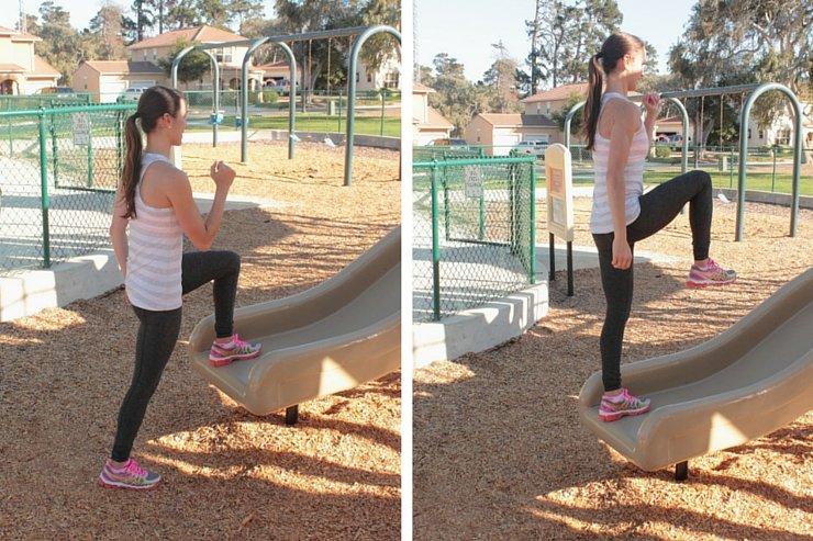 Playground Workout - Slide Step Ups
