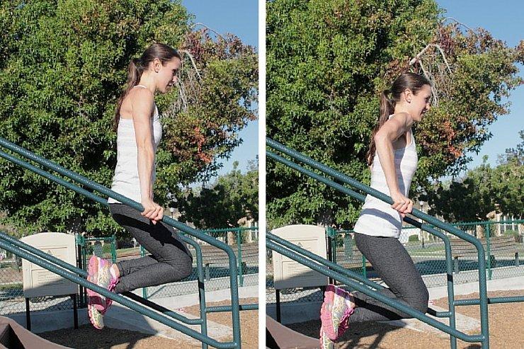 Playground Workout - Railing Dips