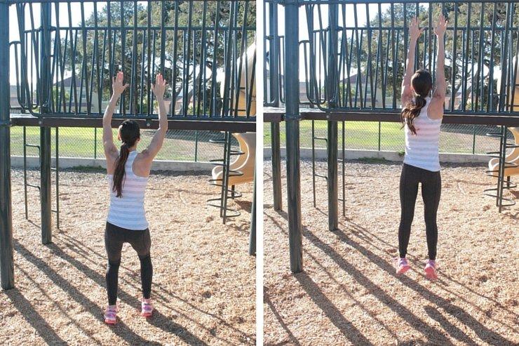 Playground Workout - Monkey Bar Jumps