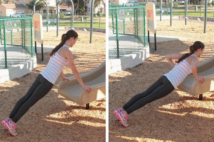 Playground Workout - Slide Pushups