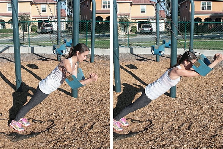 Playground Workout - Swing Rocking Planks