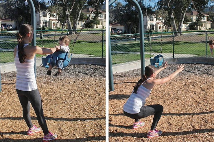 Playground Workout Swing Squats
