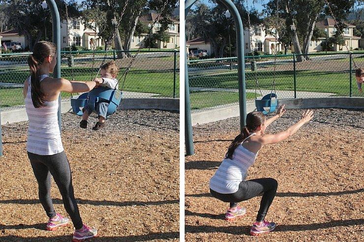 Playground Workout - Swing Squats