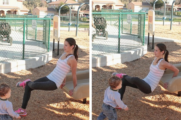 Playground Workout - Slide Tricep Dips