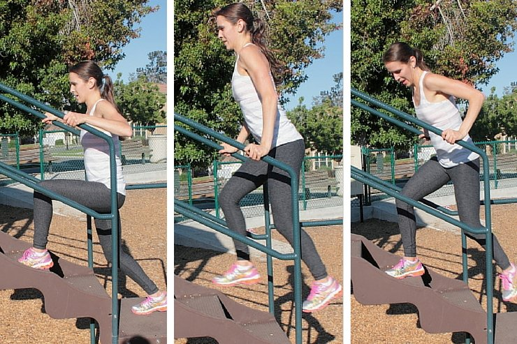 Playground Workout - Jumping Lunges