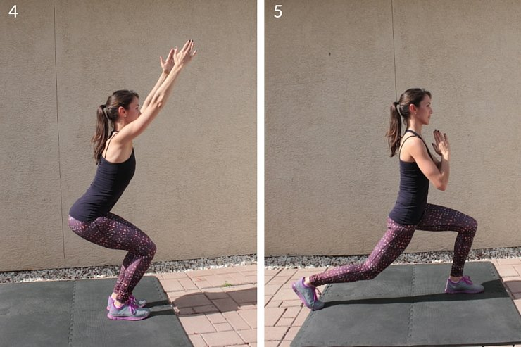 Lift your butt and tone your thighs with this step-by-step plyometric workout with barre-inspired moves