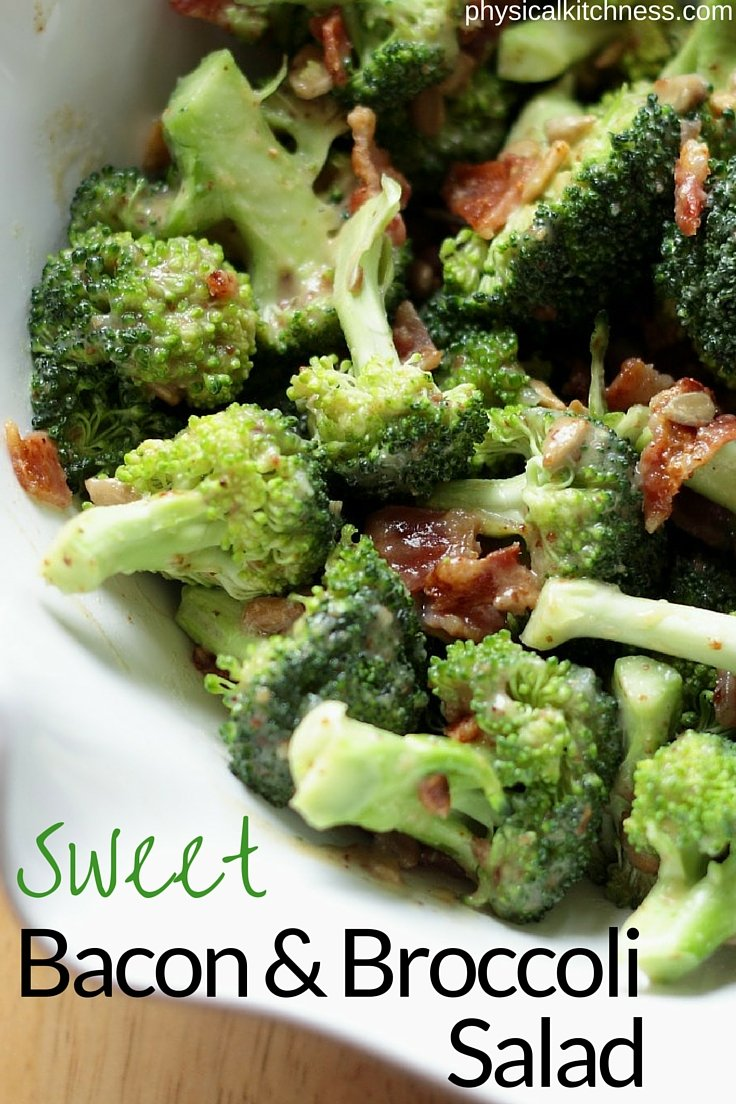 Sweetened with dates & raw honey and topped with savory bacon, this paleo sweet bacon & broccoli salad will knock your socks off!