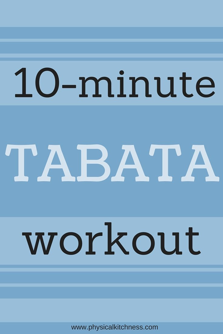 An amazing 10-minute workout - super effective circuits 20 seconds on, 10 seconds rest