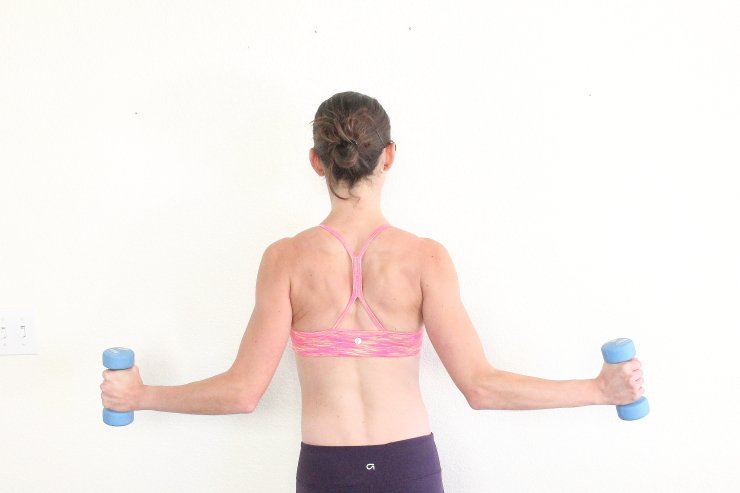 Sculpt and tone your back and shoulders with this step-by-step banish back fat workout