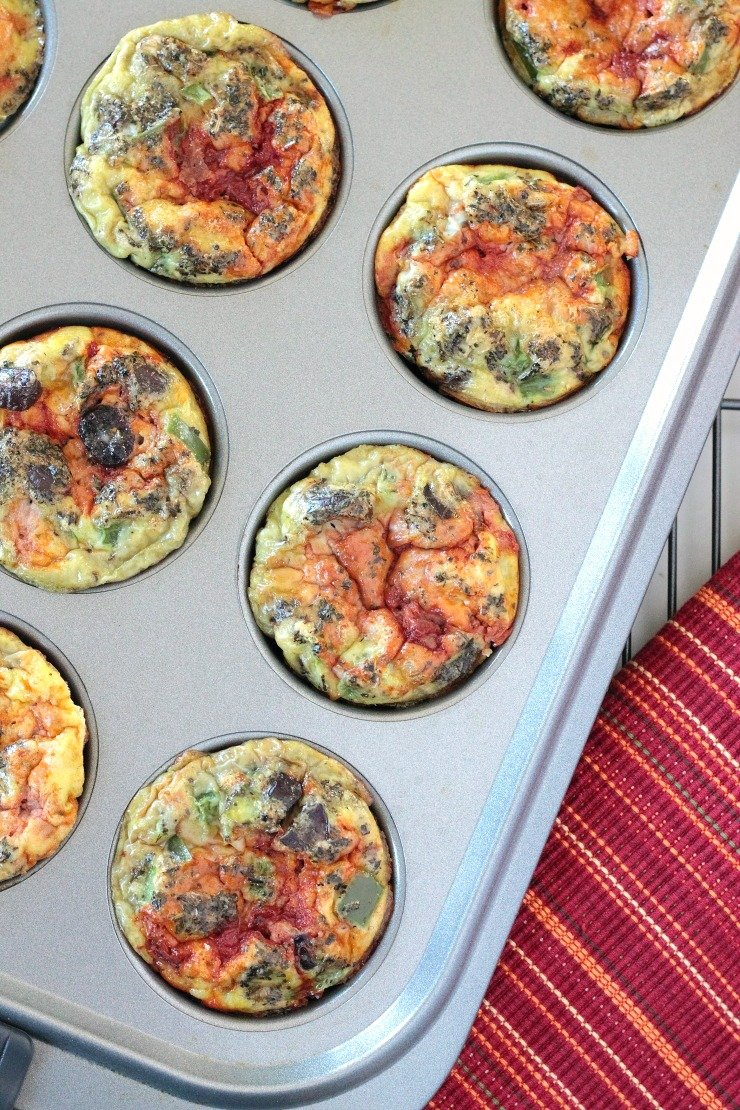 Super easy, super clean paleo pizza egg cups