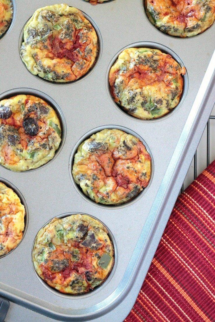 Super easy, super clean paleo pizza egg cups