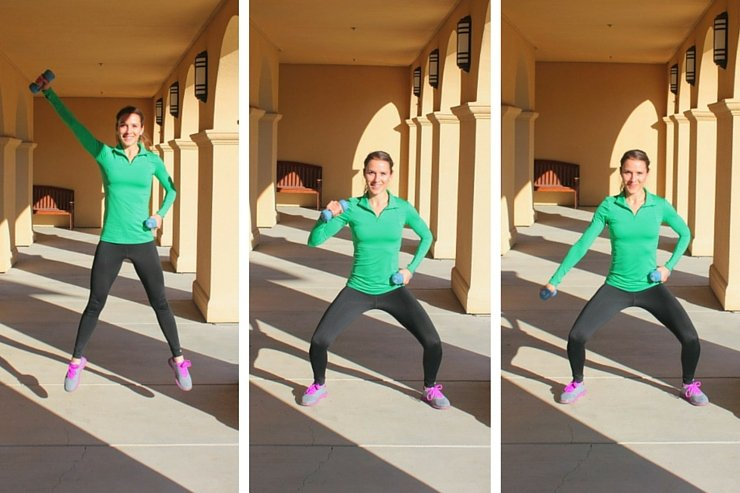 Need an effective and quick at-home workout? Grab some hand weights and try this HIIT workout with weights.