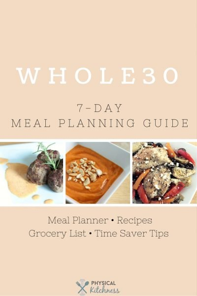 Free Whole30 Meal Planning Guide