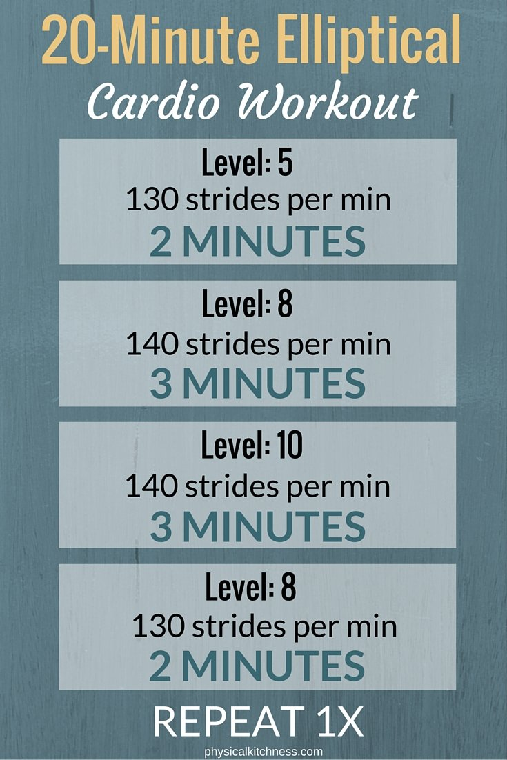 The Best Cardio Workout For Elliptical Only 20 Minutes But Insanely Effective